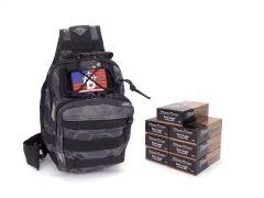 Blazer Brass 9mm 115 Gr FMJ RTAC Black Python Tactical Sling Combo
