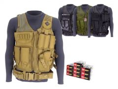 9MM-TV-01-ZQI124GRBR500 ZQI 9mm 124 Grain FMJ RTAC Tactical Vest Combo