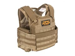 RTS-PPC-BUNDLE-TAN RTS Tactical Premium Plate Carrier & Level III+ 10x12 Armor Plate Combo - Tan