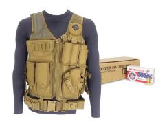 9mm-AD-TV-01-USA4172500-TAN RTAC 9mm Load Bearing Vest - Winchester USA4172 (Tan)