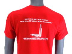 Ammunition Depot T-Shirt - Red, R Rated (L)
