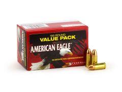 Federal American Eagle 9mm 115 Grain FMJ (Box)