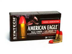 Federal American Eagle Syntech 9mm Luger 115 Grain TSJ (Box)