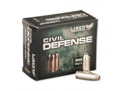 Liberty Civil Defense 9mm 50 Grain +P Lead-Free HP