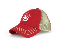 Ammunition Depot Washed Twill Trucker Cap - Red/Khaki