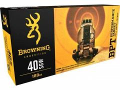 B191800401-BOX Browning Performance Target 40 S&W 180 Grain FMJ