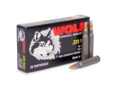 22355WFMJ-BOX Wolf Performance 223 Remington 55 Grain Steel Cased FMJ (Box)