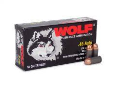 45WFMJ Wolf Performance 45 ACP 230 Grain FMJ