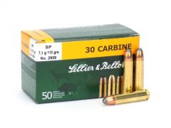 Sellier & Bellot .30 Carbine 110 Gr SP (Box)