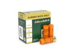 "Sellier & Bellot 12 Ga 2-5/8"" 17.5mm Rubber Buckshot (Box)"