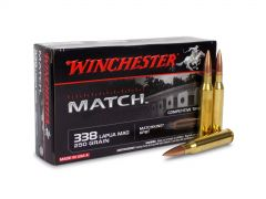 S338LM Winchester Match 338 Lapua Magnum 250 Grain MatchKing BTHP