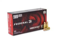 Federal American Eagle 9mm 147 Grain Subsonic FNFMJ