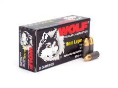 Wolf Polyformance 9mm 115 Gr FMJ (Box)