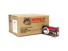 Wolf Polyformance 9mm 115 Gr FMJ (Case)