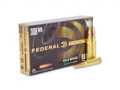GM308M Federal Gold Medal Match 308 Winchester 168 Grain SMK BTHP
