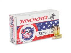 Ammuniton Depot USA4172 Box - Winchester USA 9mm 115 Grain FMJ