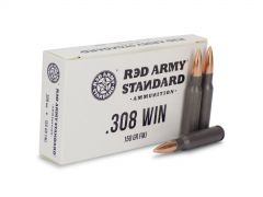 AM3090 Box Red Army Standard 308 Winchester 150 Grain FMJ 20 Rounds