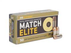 E9MMA3-COMP-50 Box Sig Sauer Match Elite 9mm 147 Grain V-Crown JHP 50 Round Box