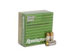 GS40SWB Box Remington Golden Saber 40 Smith & Wesson 180 Grain Jacketed Hollow Point 25 Rounds Per Box