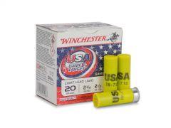 "USA207T Winchester Super-Target 20 Ga 2-3/4"" 7/8 Oz No. 7.5 Shot 25 Round Box"