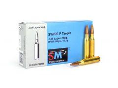 36154020-BOX RUAG Swiss P Target 338 Lapua Magnum 250 Grain BTHP