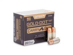 24260-BOX Speer Gold Dot G2 Carry Gun 9mm 135 Grain HP (Box)