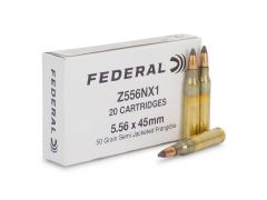 Z556NX1-BOX Federal Military Overrun 5.56 50 Grain Semi-Jacketed Frangible (Box)