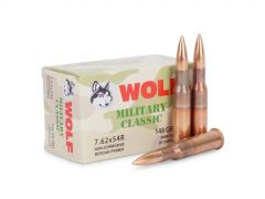 MC76254R148-BOX Wolf Military Classic 7.62x54R 148 Grain FMJ