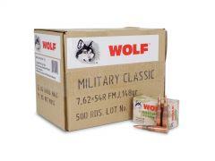 MC76254R148-CASE Wolf Military Classic 7.62x54R 148 Grain FMJ