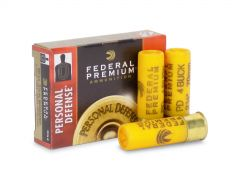 "PD256-4B-BOX Federal Premium Personal Defense 20 Gauge 2 3/4"" No. 4 Buck (Box)"