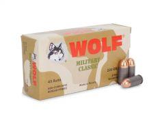 MC45FMJ-BOX Wolf Military Classic 45 ACP 230 Grain FMJ (Box)