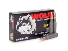 308WFMJ-BOX Wolf Performance 308 Winchester 150 Grain FMJ (Box)