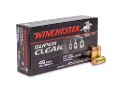 W45LF-BOX Winchester Super Clean 45 ACP 160 Grain Zinc Core Lead-Free FMJ (Box)