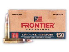 FR2815-CASE Hornady Frontier Military Grade 5.56 NATO 62 Grain Spire Point 150 Round Bulk Box