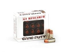 G2 Research Civic Duty 9mm 100 Grain HP