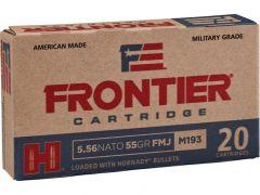 Hornady Frontier Military Grade 5.56x45mm NATO 55 Grain FMJ Case FR200-CASE