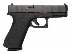 """Glock PA455S203 G45 Gen5 9mm Luger Double 4.02"""" 17+1 Black Polymer Grip/Frame Black nDLC Slide"""
