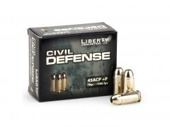 Liberty Civil Defense .45 ACP 78 Grain +P Lead-Free HP