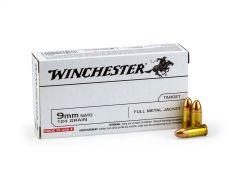 Winchester 9mm NATO 124 Grain FMJ