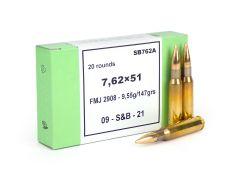 Sellier & Bellot 7.62x51 147 Gr FMJ (Box)
