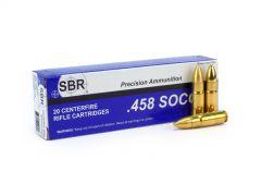 SBR .458 SOCOM 300 Grain Solid Brass For Dangerous Game Case SL45826-CASE