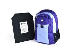 SwissGear Travel Backpack w/ Hybrid IIIA Soft Armor - Lilac
