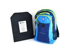 SwissGear Travel Backpack w/ Hybrid IIIA Soft Armor - Navy