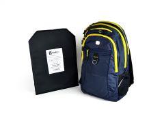 SwissGear Travel Backpack w/ Hybrid IIIA Soft Armor - Noir