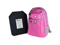 SwissGear Travel Backpack w/ Rimelig IIIA Soft Armor - Pink