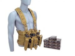 9MM-CHESTRIG-5203500 Blazer Brass 9mm 147 Grain FMJ RTAC Chest Rig Combo