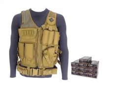 9MM-AD-TV-01-5203500 Blazer Brass 9mm 147 Grain FMJ RTAC Tactical Vest Combo