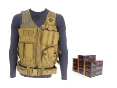 9MM-TV-01-9A500 PMC 9mm 115 Grain FMJ RTAC Tactical Vest Combo