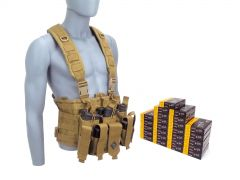 556-CHESTRIG-556K500 PMC X-TAC 223/5.56 62 Grain FMJ RTAC Chest Rig Combo