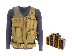 556-AD-TV-01-XP193500 PMC X-TAC 223/5.56 55 FMJ RTAC Tactical Vest Combo